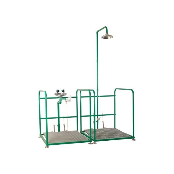 Oczomyjka i prysznic bezpieczeństwa SC 300P - urządzenie łączone na platformach